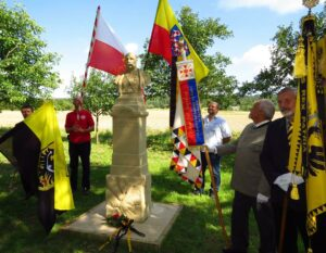 Odhalení obnoveného pomníku Františku Josefu I